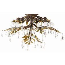 New Plantation 6 Light Semi Flush Mount