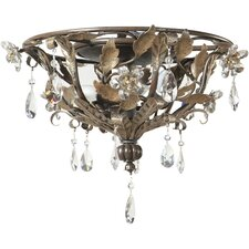 <strong>Yosemite Home Decor</strong> Splendido 3 Light Semi Flush Mount