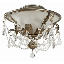 Swag 3 Light Semi Flush Mount