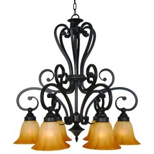 <strong>Yosemite Home Decor</strong> Florence 6 Light Chandelier