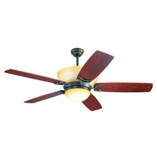 "<strong>Yosemite Home Decor</strong> 56"" Bel Air 5 Blade Ceiling Fan with Remote"