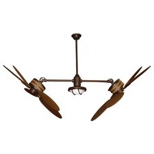 "48"" 5 Blade Adjustable Dual Ceiling Fan with Remote"