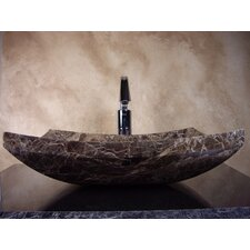 Hand Carved Zen Cut Vessel Bathroom Sink