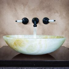 Nemausus Hand Carved Vessel Bathroom Sink