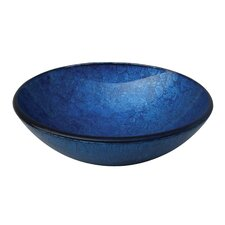 <strong>Yosemite Home Decor</strong> Royal Round Glass Bathroom Sink