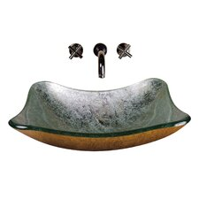 <strong>Yosemite Home Decor</strong> Square Glass Bathroom Sink