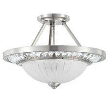 Cascade 3 Light Semi-Flush Mount