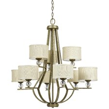 <strong>Yosemite Home Decor</strong> Lewisia 9 Light Chandelier