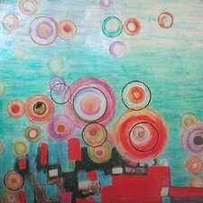 Revealed Art Bright Bubbles Original Painting on Canvas