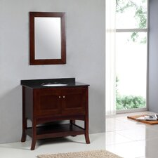 "Transitional 36"" Single Standard Bathroom Vanity Set"