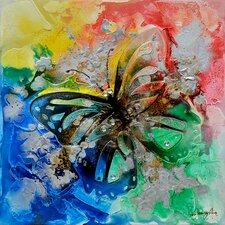 Revealed Art Butterfly Bliss I Original Painting on Canvas