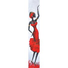 Lady in Red III Canvas Art