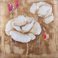 New Revealed Art White Flower I Original Painting on Canvas