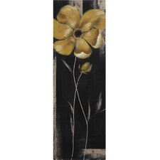 New Revealed Art Yellow Star Bloom III Original Painting on Canvas