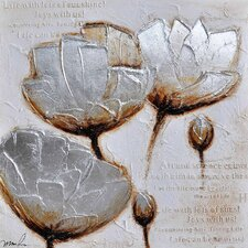 <strong>Yosemite Home Decor</strong> Frosted Petals II Canvas Art