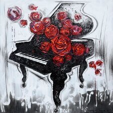 New Revealed Art Melody of Roses Original Painting on Canvas