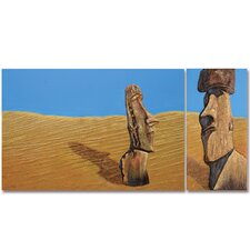 <strong>Yosemite Home Decor</strong> Stranded Canvas Art (Set of 2)