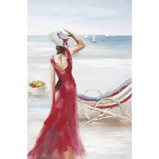 New Revealed Art Outlook on the Beach I Original Painting on Canvas