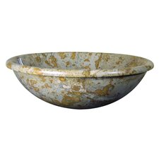 <strong>Yosemite Home Decor</strong> Alisha Hand Carved Round Vessel Bathroom Sink