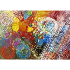 Cyclonic Abstraction I Hand Painted Wall Art