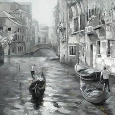Revealed Artwork Old Venice Original Painting on Canvas