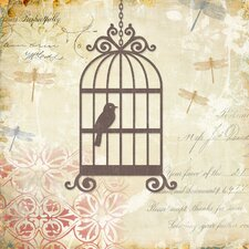 Caged Whimsy I Canvas Wall Art