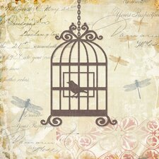 Caged Whimsy II Canvas Wall Art