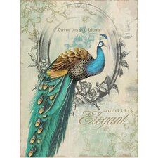 Peacock Poise I Canvas Wall Art