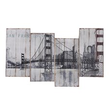 Revealed Art Golden Gate Bridge Original Painting on Canvas