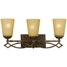 <strong>Yosemite Home Decor</strong> Scarlet 3 Light Bath Vanity Light