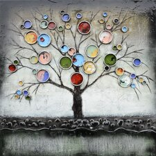Revealed Artwork Treed Bubbles Original Painting on Canvas
