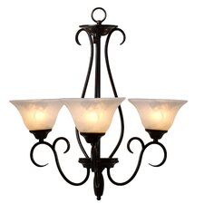 <strong>Yosemite Home Decor</strong> Illiloette Falls 3 Light Mini Chandelier
