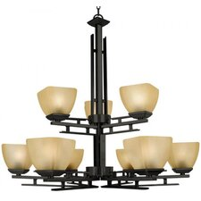 <strong>Yosemite Home Decor</strong> Half Dome 9 Light Chandelier