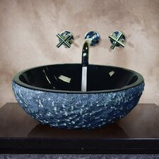 Piran Hand Carved Vessel Bathroom Sink