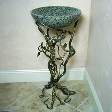 <strong>Yosemite Home Decor</strong> Firestine Hand Made Pedestal Bathroom Sink Set