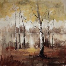Revealed Artwork Autumn Mist Original Painting on Canvas