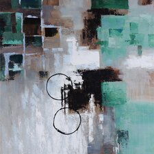 Revealed Artwork Green Movement Painting Print on Canvas