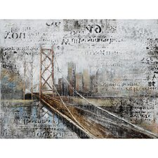 Revealed Artwork Across The Bridge Graphic Art on Canvas