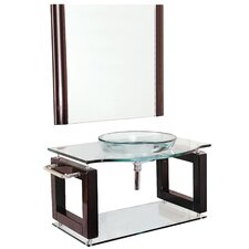 "Transitional Single 39.5"" Bathroom Vanity Set"