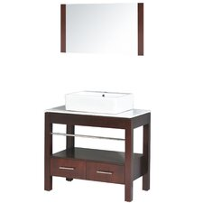 "Transitional Single 35.5"" Bathroom Vanity Set"