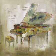 Revealed Artwork Paris Piano Original Painting on Canvas