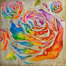 Revealed Artwork Colored Roses II Original Painting on Canvas