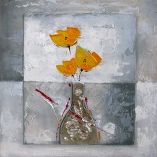 Revealed Artwork Boxed Flowers II Original Painting on Canvas