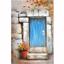 Revealed Artwork Little Blue Door Wall Art