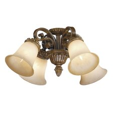 Dynasty 4 Light Ceiling Fan Light Kit