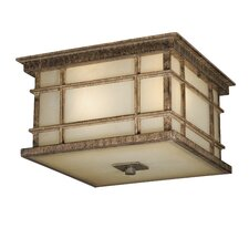 Manor House 3 Light Outdoor Flush Mount