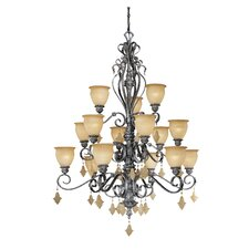 <strong>Vaxcel</strong> Montmarte 15 Light Chandelier