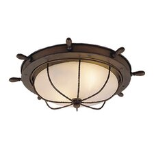 Nautical 2 Light Outdoor Flush Mount