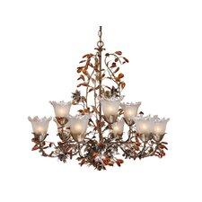 <strong>Vaxcel</strong> Ophelia 9 Light Chandelier