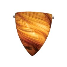 Milano 1 Light Wall Sconce with Swirl Glass